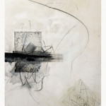 Digital photo, photopolymer on rice paper, dry-point, charcoal and oil paint brushstrokes, 200 x 150 cm